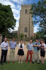 Some guests with members of the Gorundwork Suffolk and Woolley teams